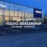 custom glass windows at volvo dealership kitchener exterior view