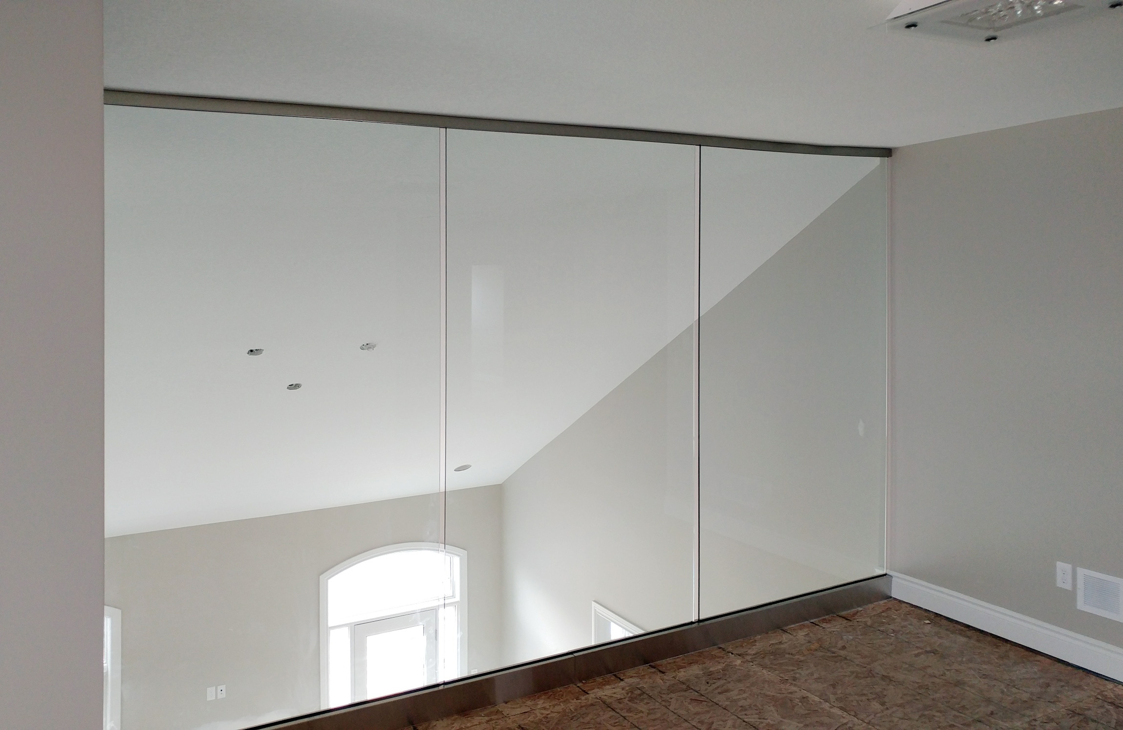custom glass office partition