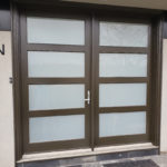 custom glass residential door