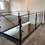 glass railings inside home