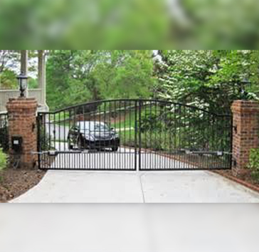residential front security gate